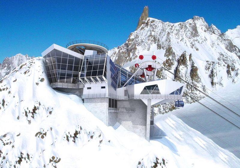 Monte bianco apre a giugno la funivia delle meraviglie for Vista sulla valle cabine colline hocking
