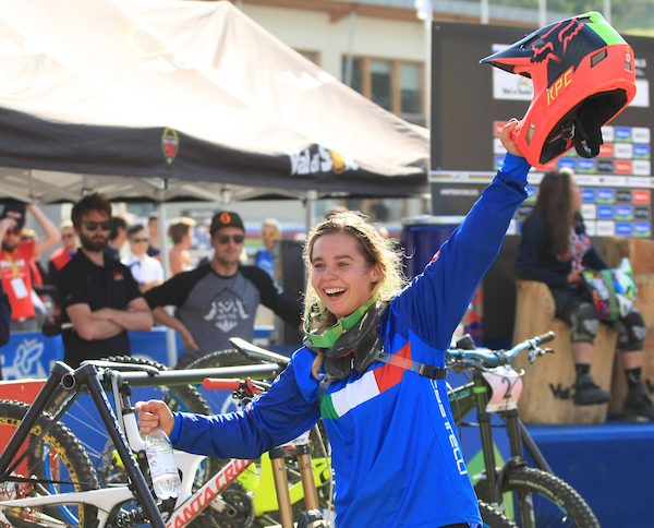 UCI 2016 MOUNTAIN BIKE AND TRIALS WORLD CHAMPIOSHIPS Downhill race of the Juniors in Daloasa on September 11, 2016. Italy's Alessia Missiaggia is the new Junior World Champion. © Pierre TEYSSOT www.pierreteyssot.com