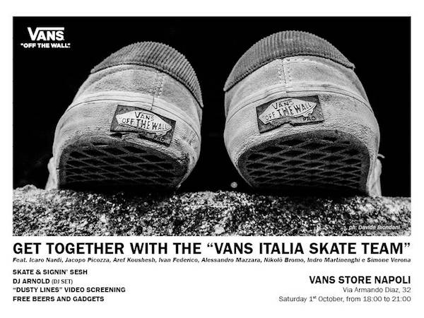 52cfe90af9 Get Together With The Vans Italia Skate Team in Naples - 4ActionSport