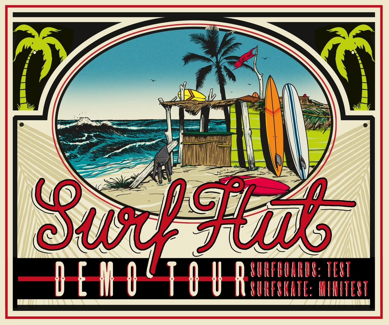 Surf hut demo tour sabato prima tappa a tirrenia 4actionsport - Bagno la pace tirrenia ...