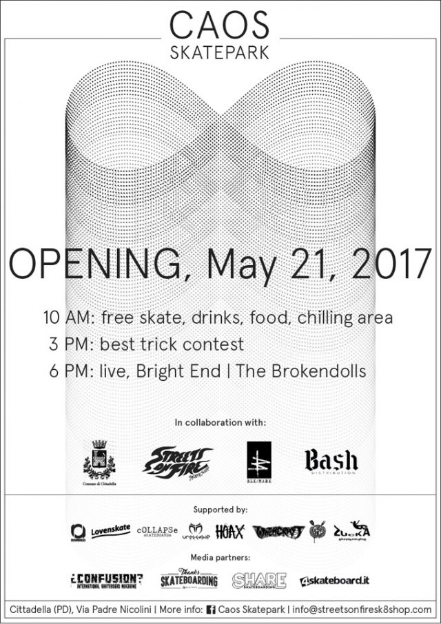 caos skatepark opening flyer