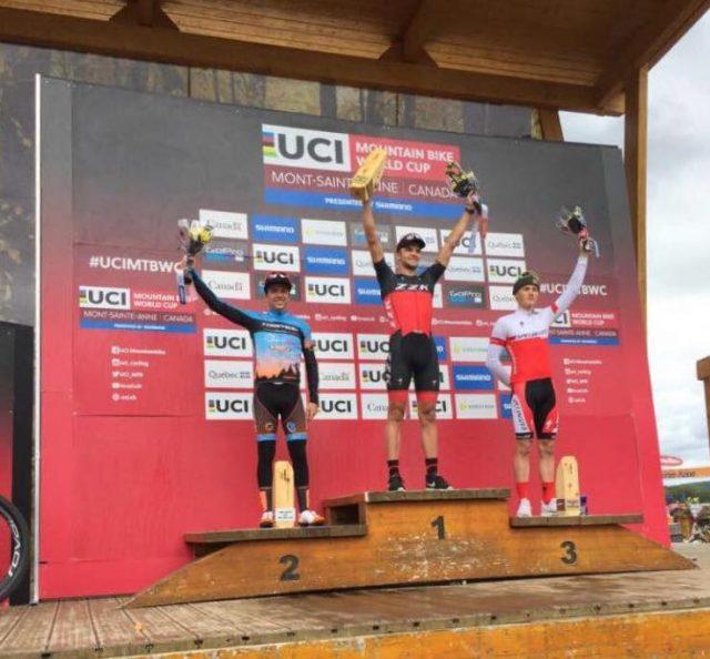 Il podio Under 23 maschile con Nadir Colledani secondo - foto: Facebook