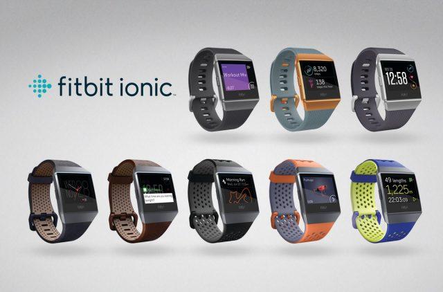 La collezione completa del nuovo Fitbit Ionic