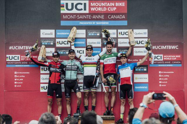 Il podio maschile di Mont-Sainte Anne