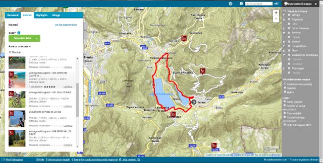 La mappa interattiva della Valsugana