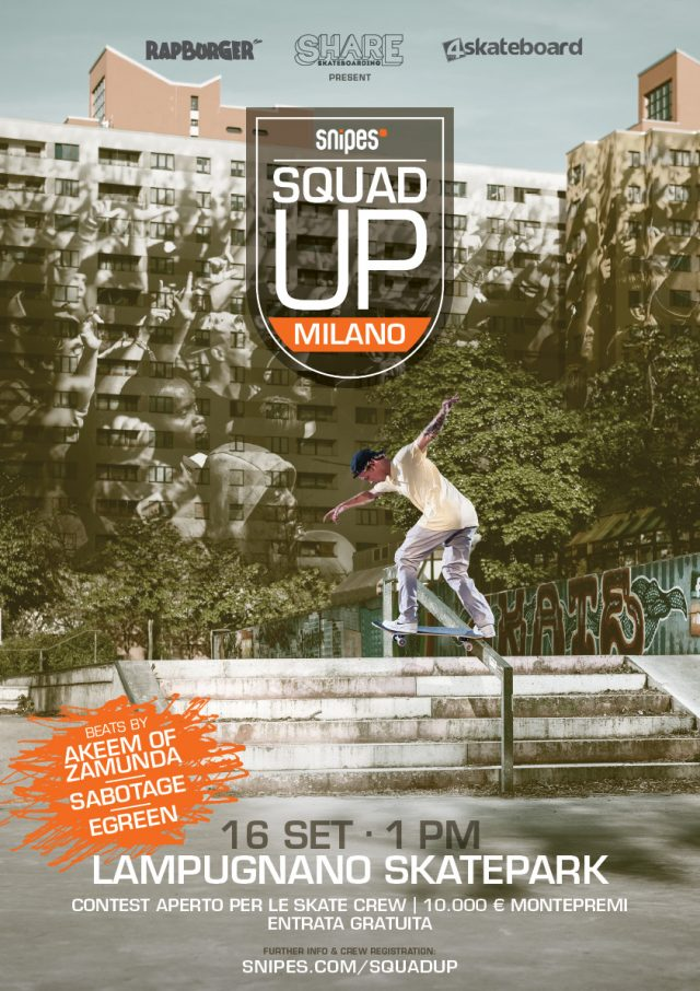 snipes SQUAD UP Milano Poster