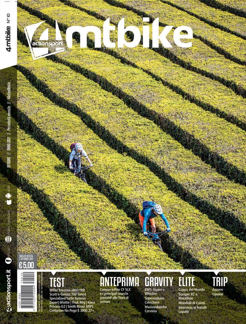 4Mtbike Ottobre 2017 - la copertina con foto di Martin Bissig