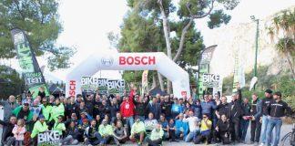 Foto di gruppo a chiusura dell'avventura 2017 del Bike Shop Test