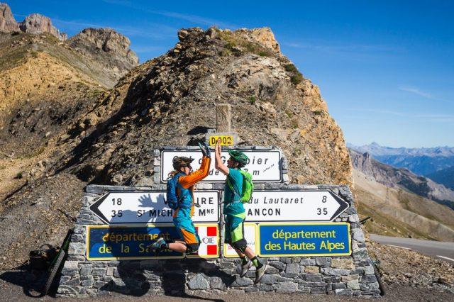 Jerome e Pauline al Col du Galibier - foto: Jeremie Reuiller