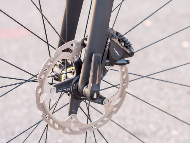 Attacco disco Flat Mount sulla forcelle One One Four SLX Disc