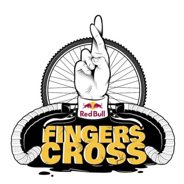 Il logo della gara gravel Finger Cross, supportata da Red Bull