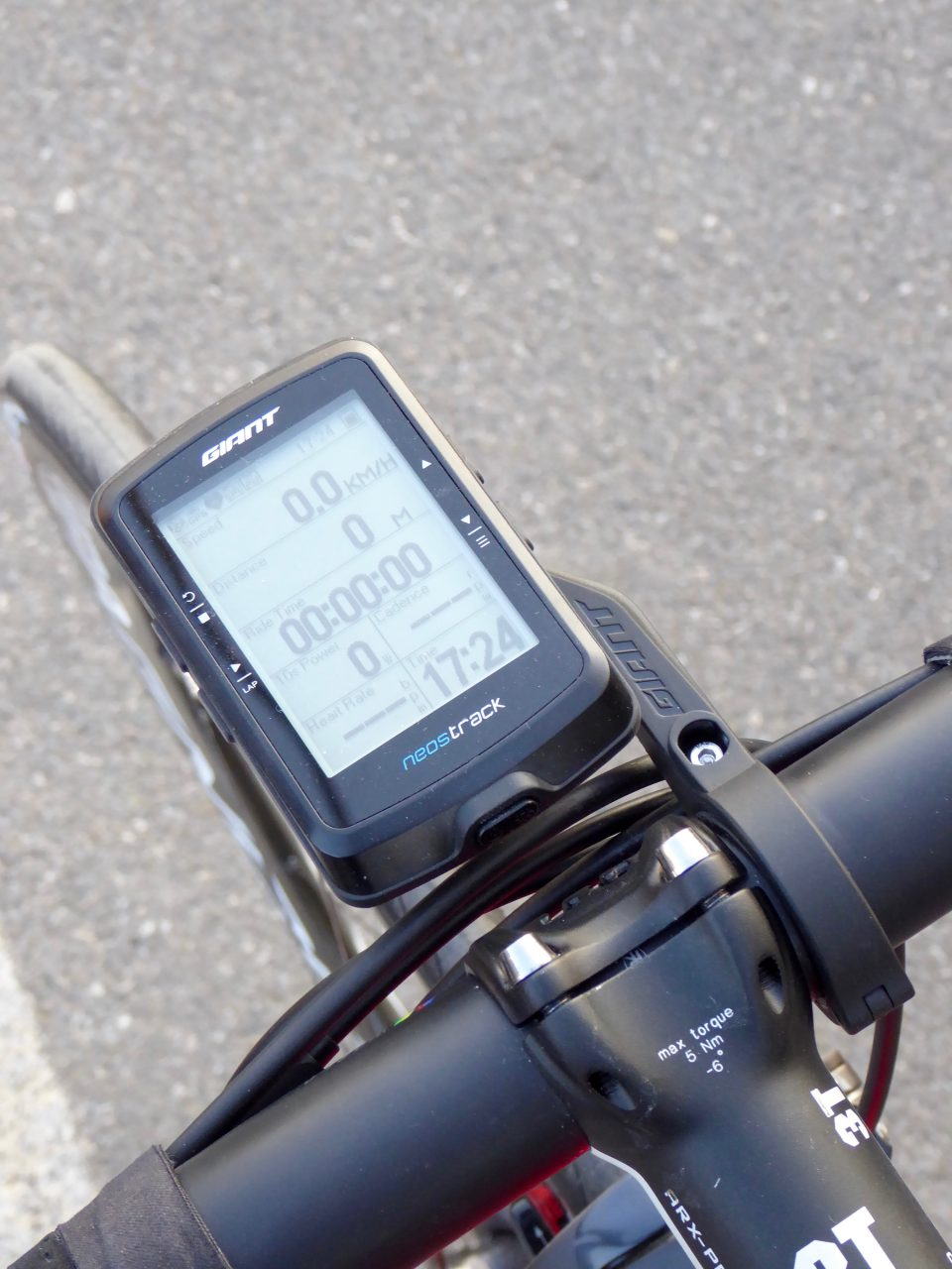 Giant Neos Track, ciclocomputer GPS