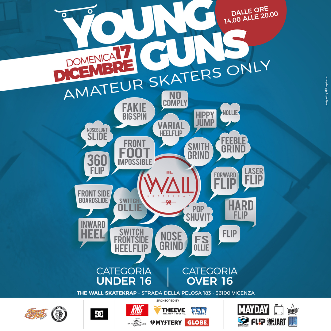 young guns contest the wall