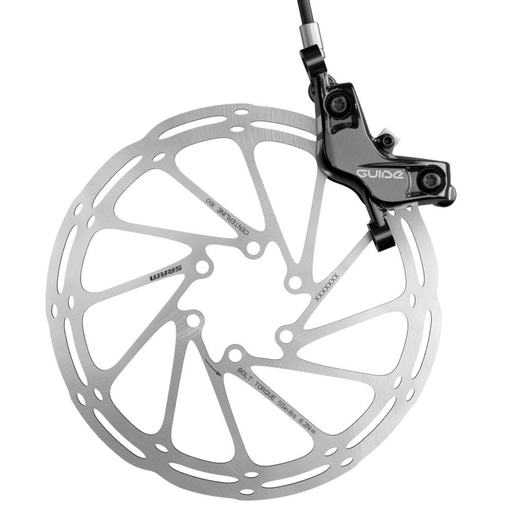 SRAM Guide T: rotore Centerline e pinza S4