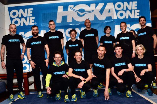 Il Team Trail Hoka One One 2018 al gran completo