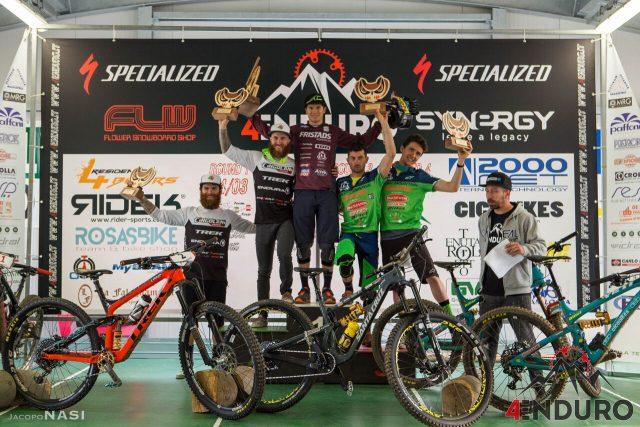Podio Open Men: Berta 1°, Denny Lupato 2°, Sottocornola 3°, Alex Lupato 4°, Martinelli 5°