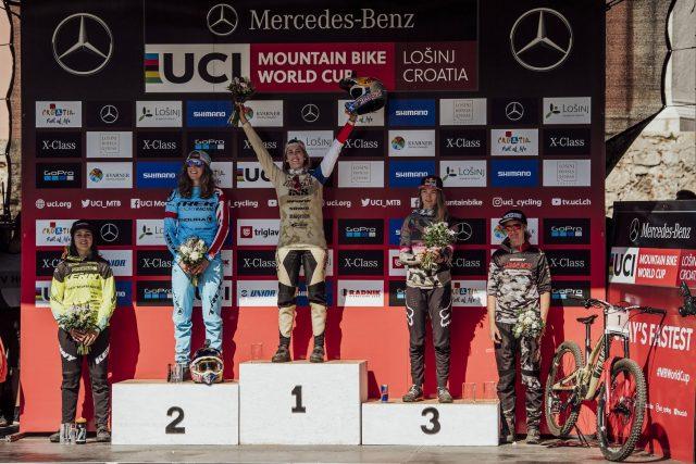 Il podio femminile: Nicole 1^, Atherton 2^, Seagrave 3^, Cabirou 4^, Ravanel 5^