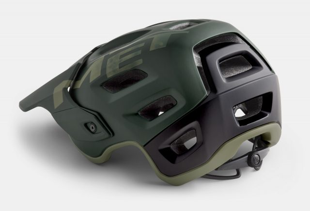 Vista 3/4 posteriore del casco Met Roam Sherwood