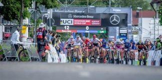 Partenza della gara Short Track ad Albstadt