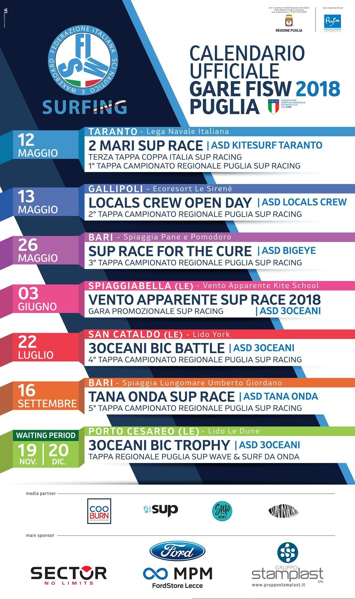Calendario Puglia