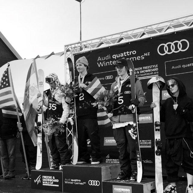 cardrona junior world cup freeslo big air podio