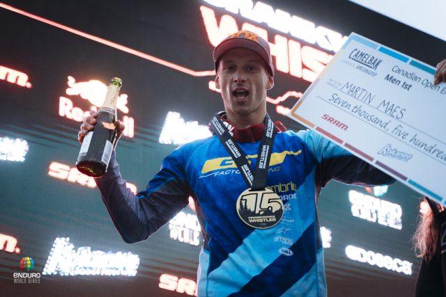 Martin Maes celebra il secondo trionfo in carriera nelle Enduro World Series