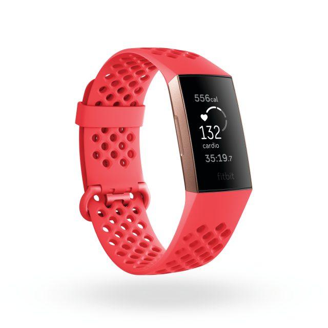 Il nuovo Fitbit Charge 3 in modalità CARDIO