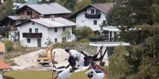 banger park freeski bag jump