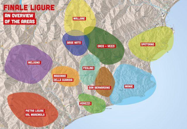 Mappa Finale Ligure: le varie zone