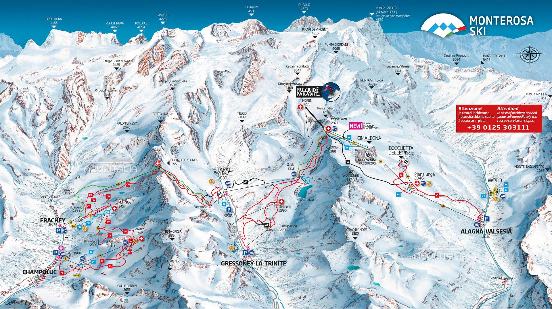 monterosa ski sciare