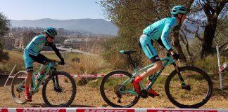 Stephane Tempier (a destra) e Nadir Colledani (a sinistra) si allenano con le nuove Methanol CV RS