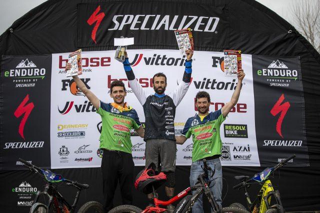Il podio maschile: 1° Garibbo, 2° Martinelli, 3° Sottocornola