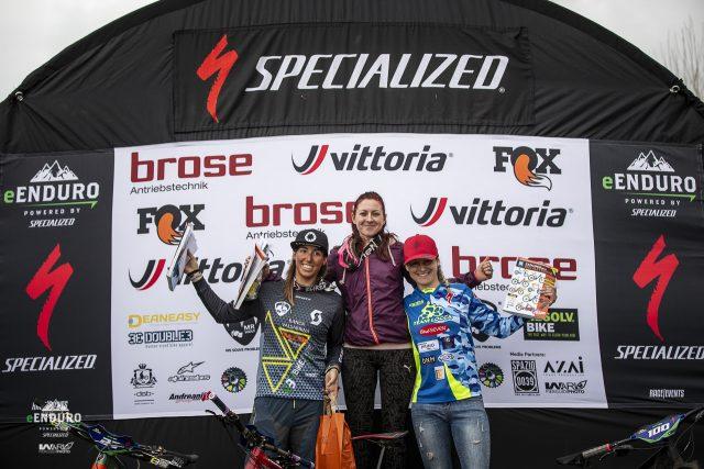Il podio femminile: 1^ Rossin, 2^ Bormolini, 3^ Pastore