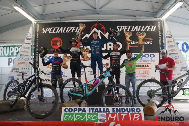 Il podio Open Men: 4° Mirco Vendemmia, 2* Alex Lupato, 1° Matteo Berta, 3° Denny Lupato, 5° Davide Sottocornola