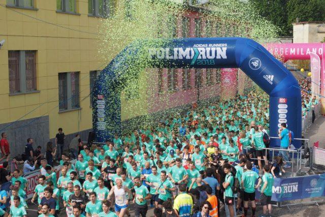 La partenza dell'edizione 2108 della PolimiRun