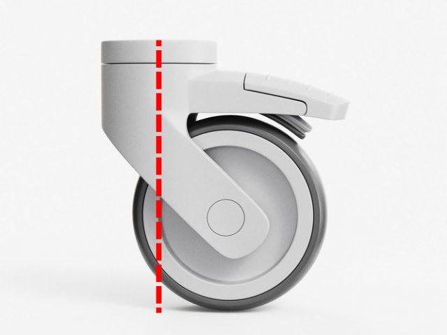 Il modello 3D di una ruota di un carrello (caster wheel) - by CGTrader