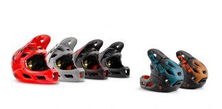 La gamma di colorazioni del casco Met Parachute MCR