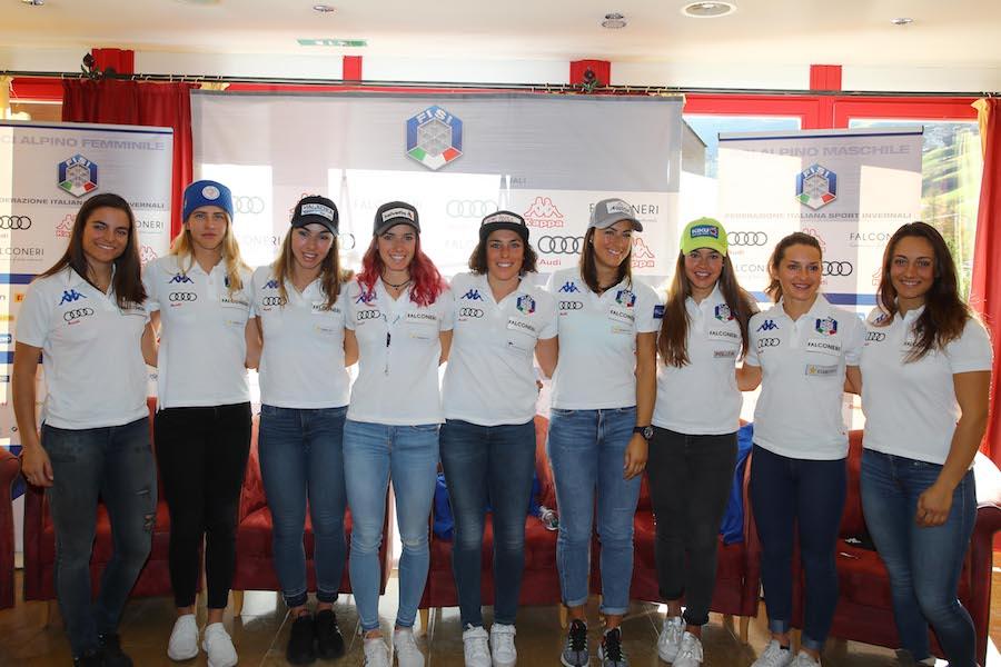 Ski World Cup 2018/2019. Conferenza Stampa squadra femminile sci alpino Gigante . Soelden,26/10/ 2018 Photo: Marco Trovati /Pentaphoto