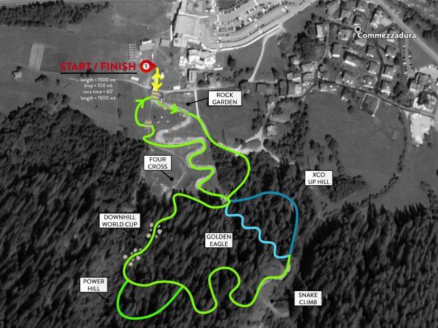 Il tracciato della Electric Snake in Val di Sole