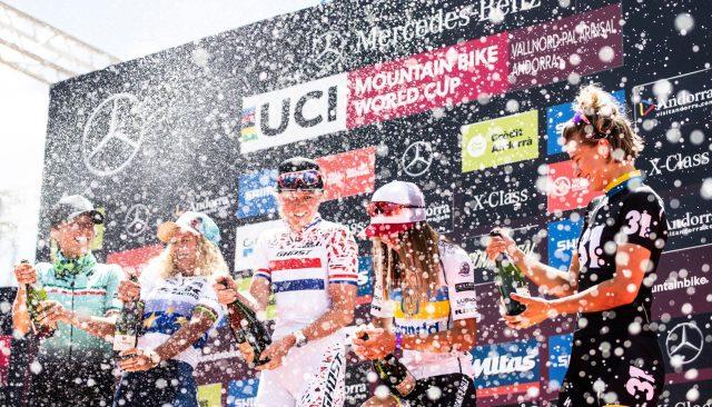 Grande festa sul podio del Cross Country femminile a Vallnord