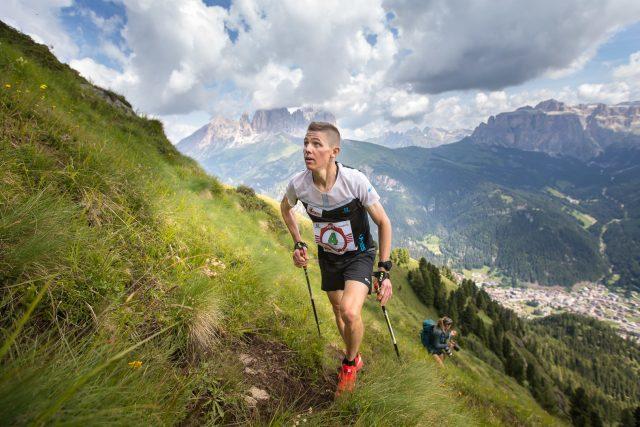 Davide Magnini, per il secondo anno cosecutivo vincitore della Dolomyths Run VK