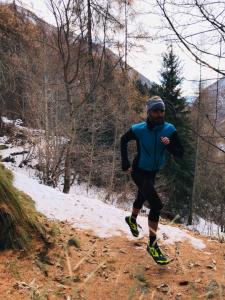 Mattia De Guio in azione con le ALTRA Lone Peak 4