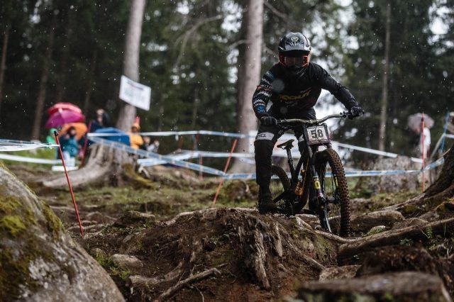 Davide Palazzari impegnato in qualifica in Val di Sole, dove sarà 2° - foto: Alex Luise