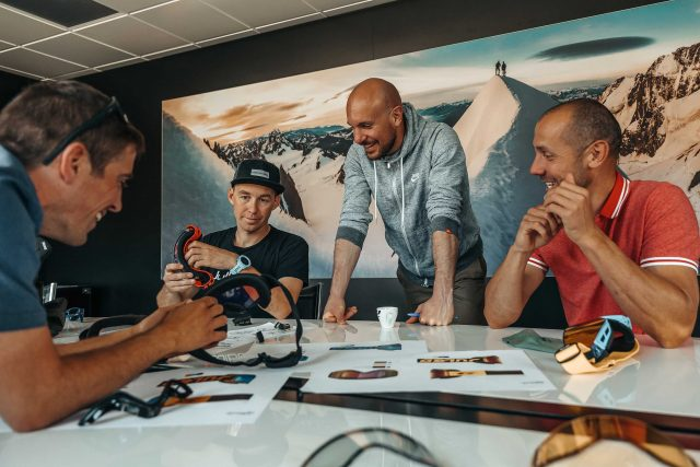 Designer Julbo con gli atleti Jérôme Clementz e Fabien Barel - foto @Stéphane Godin