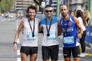 Il podio della long distance maschile. Al centro Giulio Ornati vincitore.