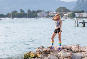 Justine Mattera, grandissima amante di molteplici attività sportive, da diversi anni ambassador d'eccezione per il marchio running BROOKS.