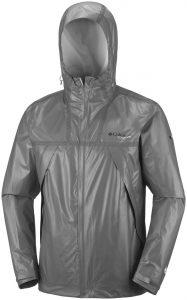 La La giacca Columbia OutDry Ex ECO Tech Shell nella doppia versione da uomo, bianco ghiaccio oppure grigio scuro