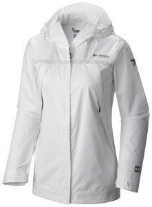 La giacca Columbia OutDry Ex ECO Tech Shell nella doppia versione da donna, bianco ghiaccio oppure grigio scuro