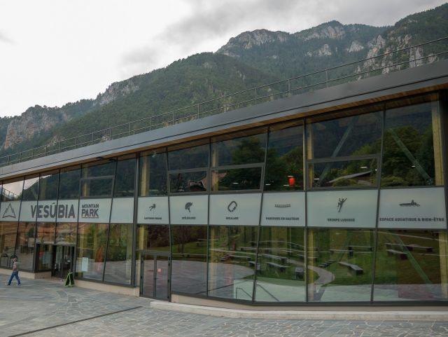 L'accesso al Vesubia Mountain Park, struttura unica in Europa