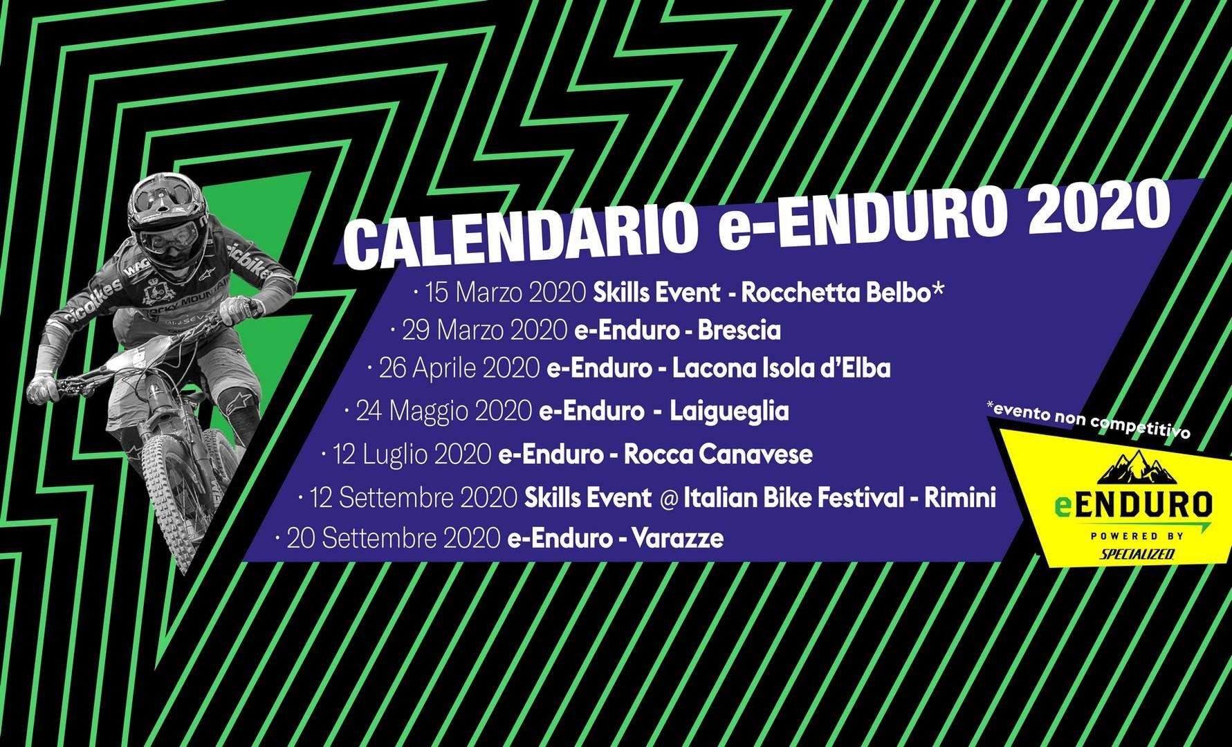 e-Enduro calendario 2020